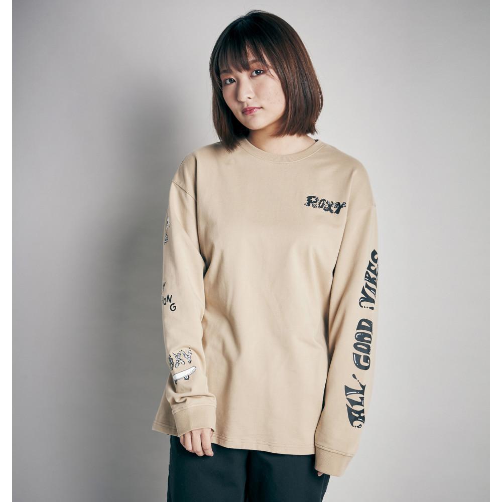 【ROXY x Chocomoo】CHOCOMOO  LOGO LONGSLEEVE TEE 長袖 Tシャツ