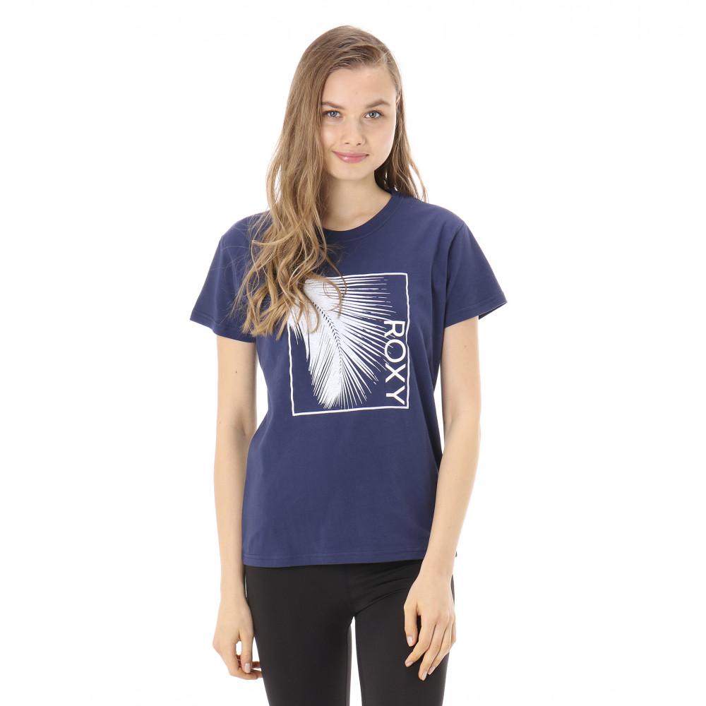プリント Tシャツ LEAF ROXY