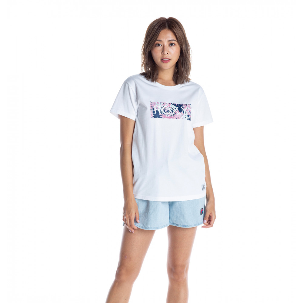 Tシャツ LEAF WAVE ROXY
