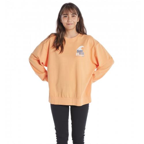 SURF CLUB ROXY CREW NECK リラックスフィット 長袖 Tシャツ