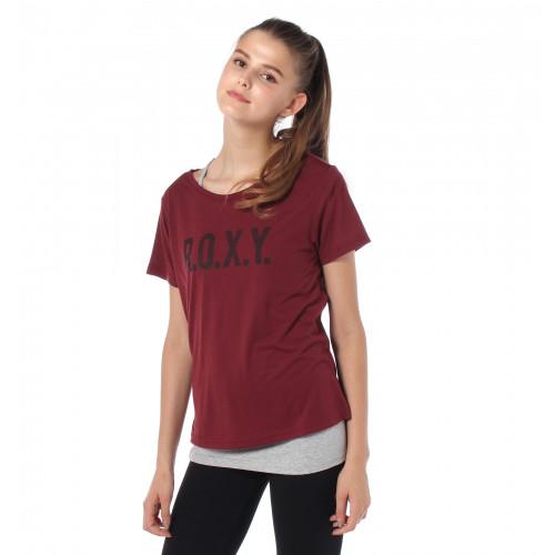 速乾 UVカット キャミ付き Tシャツ TEARDROP ROXY
