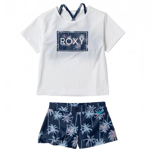 ラッシュTシャツ付き ビキニ セット (100-150cm) MINI PALM SHADOW